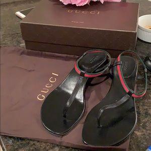 Gucci Nappa Morea Nastro Elastico Sandal